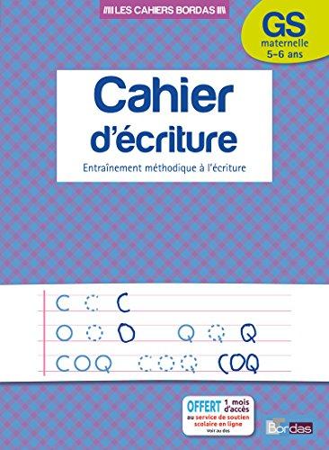 Cahier d'écriture GS par Collectif