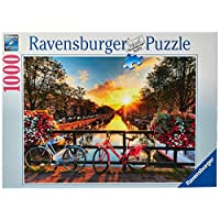"""Ravensburger Bicycles in Amsterdam 1000 Piece Jigsaw Puzzle for Adults """" Every Piece is Unique, Softclick Technology Means Pieces Fit Together Perfectly"""