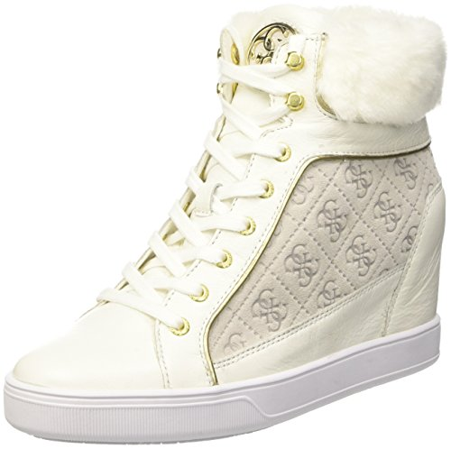 Guess Damen Furr High-Top Bianco