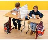 Schüler-Sichtschutz, 15 Klausur-Sichtblenden im Koffer, leichter und schneller Aufbau - Tisch-Trennwand mobil Schule