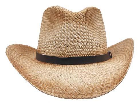 Cooler Strohhut Bogarthut Sonnenhut Stroh Hut Lederband Farbe Braun