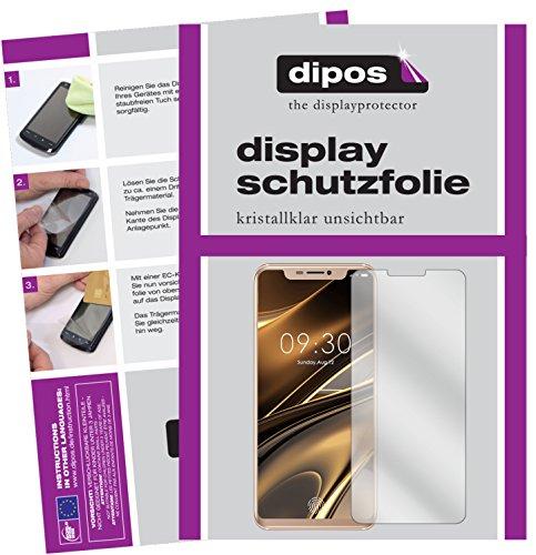 dipos I 2X Schutzfolie klar passend für Doogee V Folie Bildschirmschutzfolie