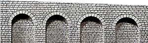 FALLER 170840  - Arcos de piedra de medio arco color gris Importado de Alemania