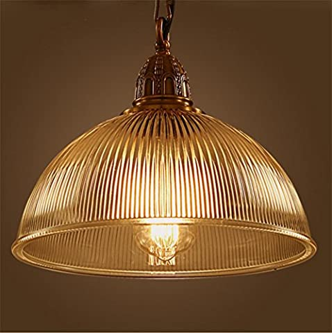 Xh&Yh Vintage Glass Pendant Light Shade Lustre de cuisine industrielle