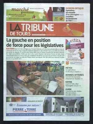 TRIBUNE DE TOURS (LA) [No 155] du 10/05/2012