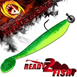 Angel-Berger Wild Devil Baits Action Shad Loaded Ready2Fish Gummifisch (Green Flash, 12,5cm)