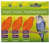 Dehner 5310594Gabbia per Uccelli Sabbia Carta 3x 8Fogli