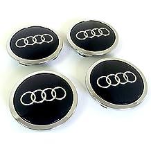 Juego de tapas de cuatro Audi Llantas Mediados De Buje protectora Negro nadadores 69mm 8t0601170a o 4b0601170a apto para AUDI nabenabdeckungen/Buje–Juego de capuchones de cuatro aluminio Mediados Nabe tapas Negro/Cromo Cubierta nadadores 69mm compatible con Audi A3A4A5A6A7A8S4S5S8S8RS4Q3Q5Q7TT S Line Quattro y otros modelos 8t0601170a o 4b0601170a A4L Z91L
