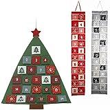 LS-LebenStil LS Design Adventskalender Selbstbefüllen Advent Kalender 24 Säckchen Tannenbaum