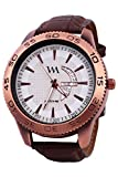 Watch Me White Dial Brown Leather Watch ...