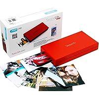 serenelife–iPhone–Impresora de fotos portátil instantánea Wireless Color imagen impresión para Apple, iPad o Android funda para cámara de smartphone–Mini compacto fácil de viaje tamaño de bolsillo–pickit21rd (rojo)