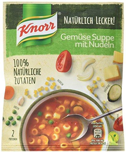 Knorr Natürlich Lecker! Gemüse Suppe mit Nudeln  Beutel, 57 g