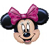 Amscan 0776502 28 x 23-Inch Minnie Mouse SuperShape Foil Balloon (10-Piece)
