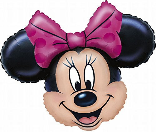 rty und Dekoration - Folienballon Super Shape - Disney Minnie Mouse, circa 71 x 58 cm (Minnie Luftballons)