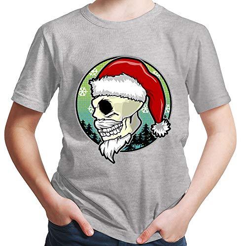 HARIZ  Jungen T-Shirt Weihnachten Totenkopf Mütze Weihnachten -