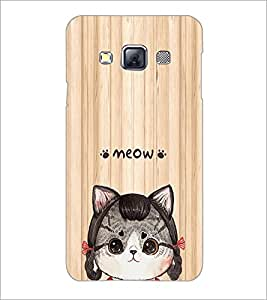 PrintDhaba Meow D-3379 Back Case Cover for SAMSUNG GALAXY A3 (Multi-Coloured)