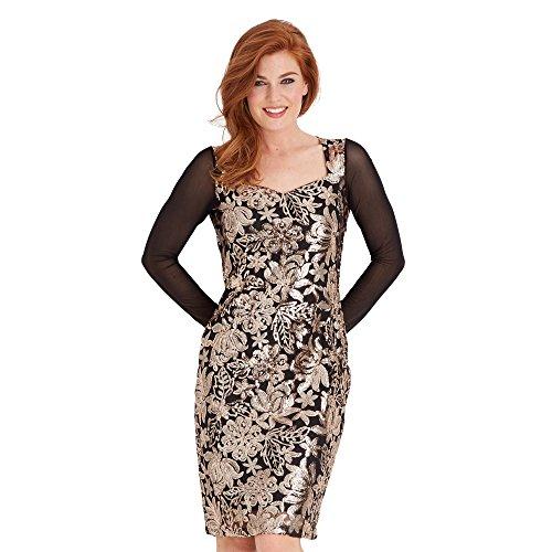 Joe Browns Damen Kleid Sophisticated Sequin, Brown (Bronze), 34 -