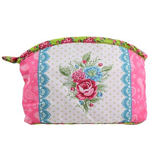 Mesdames filles cosmétiques maquillage sac toilette pratique cadeau Lavage Rose Style Shabby Chic Pink & Green