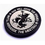 aquiver redondo parche Devgru León dios juzgará NUESTROS Depura US Navy Seal equipo ejército moral táctica parche insignia Adhensive parche extraíble negro