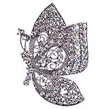 Vintage Schmetterling Form Brosche Nadel Anstecker Brooch Geschenk Schmuck - Silber