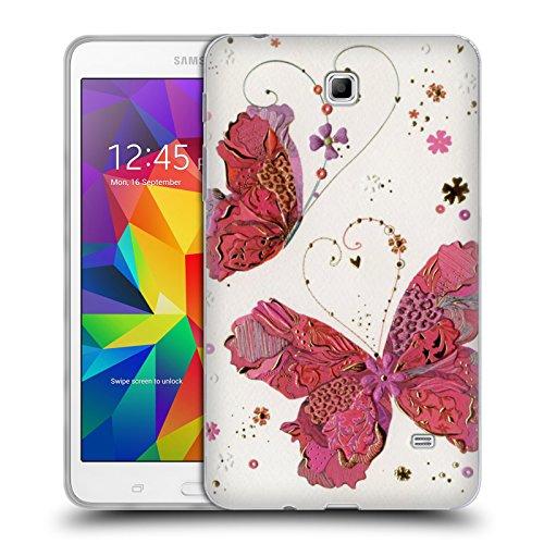 Ufficiale Turnowsky Farfalle Dell'Amore Primavera Cover Morbida In Gel Per Samsung Galaxy Tab 4 7.0