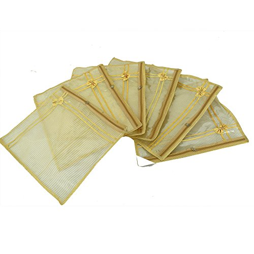 Kuber Industries™ Single Packing Saree Cover In Tissue Transparent Sheet Set Of...