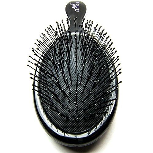 Premium Haarbürste zum effektiven und schonenden Bürsten Ihrer Haare - entwirrt schmerzlos - Bürste - Nassbürste - Hair Brush - entwirrende Haarbürste (Schwarz)