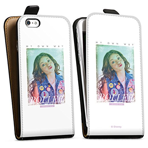 Apple iPhone 7 Plus Silikon Hülle Case Schutzhülle Soy Luna My own Way Disney Downflip Tasche schwarz
