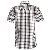 Almsach Herren Kurzarm Trachtenhemd Regular-Fit Trachten-Mode traditionell-kariert s-XXL viele Farben, Größe:M, Farbe-Zweifarbig:Braun/Tanne