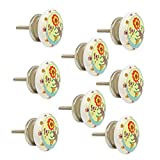 #4: JP Hardware pack of 8 Ceramic Multicolour Knobs for Cabinets & Cupboards