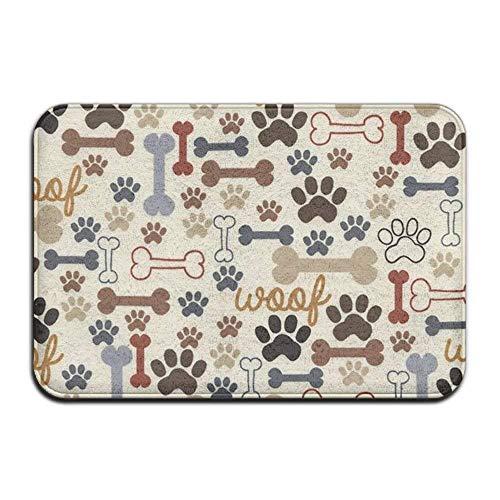 Dog Bones Rectangular Door Bathtub NonSlip Antiskid Thickness 2-inch(approx. 4.5 Cm) Point Plastic Anti-slip Base Large Door Mat