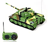 Lowpricenice New Mini 1:72 49mhz R/c Radio Remote Control Tiger Tank 20m Kids Toy Gift Green by Lowpricenice