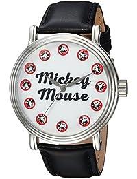 Disney Men's 'Mickey Mouse' Quartz Metal Casual Watch, Color:Black (Model: WDS000335)