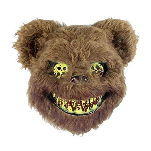 Swteeys Halloween Kaninchen Bär Maske Horror Gesichtsmaske Cosplay Party Kostüm Requisiten Masken für Erwachsene (Kaninchen Kostüm Streich)