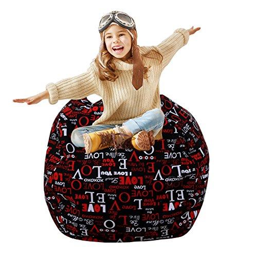 Extra-große gefüllte Tier Lagerung Sitzsack Abdeckung, T-Mix 38