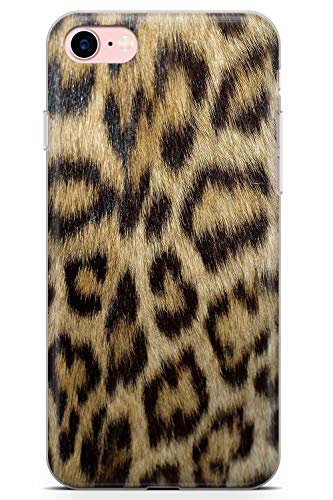 Case Warehouse iPhone 7/8 Designer Mode Brown-Leopard-Druck Schutz Gummi Handyhülle TPU Bumper Tier Katze Wild Süss Wickeln