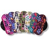Protège-slips lavables,lot de 7 en coton BIO;lingettes réutilisables avec les ailes...