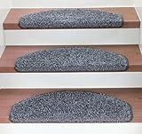 Kettelservice-Metzker Stufenmatten Treppenmatten Shaggy - Halbrund 10 Aktuelle Farben im