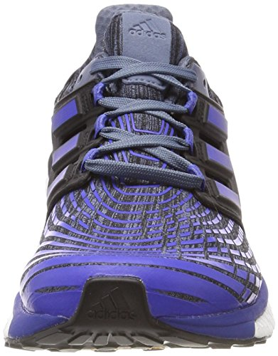 adidas Energy Boost M, Chaussures de Running Homme Noir (Raw Steel S18/hi-res Blue S18/core Black)