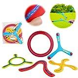deAO Set di Boomerang di 5 Pezzi per Principianti Set di Bumeran Multicolore attività Sportive per Bambini in Famiglia all'Aperto
