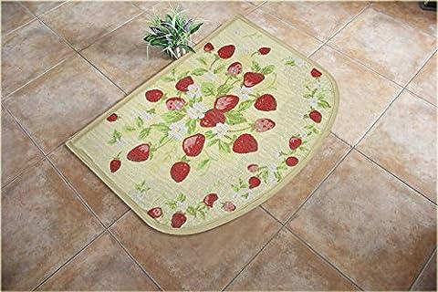 BLZZR*Matten Eingangsmatten Eingang Küche lange rutschfeste Füße Gesundheit Badezimmer Tür Saugeinlagen Matten , ca. 45*45*180 (Waldmeister 60,RV-12 Woodruff Erdbeeren