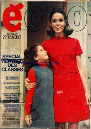 ECHO DE LA MODE [No 35] du 01/09/1968 - SPECIAL RENTREE DES CLASSES - VETEMENTS ENFANTS - TABLIERS - F. MALLET JORIS - LA CUISINE A L'ITALIENNE par Collectif