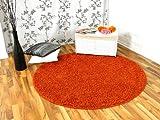 Shaggy Nova Hochflor Langflor Teppich Orange Rund in 7Größen