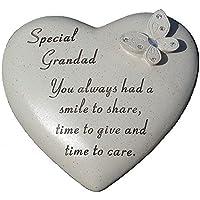 """Special Grandad"" Love Heart Shaped Grave Memorial Plaque Ornament"