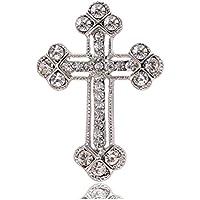 S&E Uomo Diamante Crocifisso Spilla Pin strass Croce risvolto Stick per Suit Tuxedo (Croce Risvolto Pin)