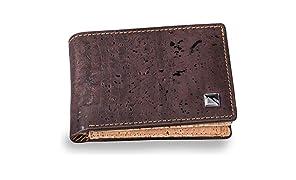 Pinnacle Mini Geldbeutel Herren Klein - Portmonee aus Kork Leder mit RFID Schutz - Portemonnaie für Männer - Ökologisch & Vegan - mit Geschenkverpackung