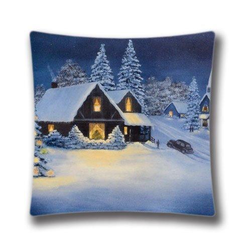 rongxincailiaoke Kissenbezüge 18x18inch Pillow Case,Vintage Christmas Santa Claus Pillow Case Super Soft and Comfortable Pillowslip Christmas Cottage on Pinterest Pillow Case Cushion ()