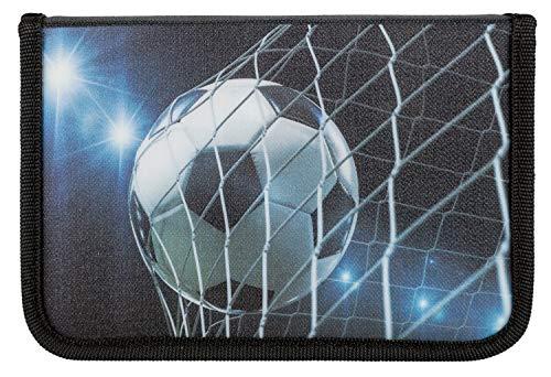 Idena 20050 - Schüleretui gefüllt mit Stabilo Stiften, 24 teilig, Fußball, ca. 19,5 x 13,2 x 3,5 cm, Mehrfarbig