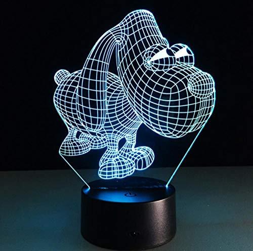 Nette 3D Hund Kinder Licht Kreative LED Lampe Big Eye Dog USB Wiederaufladbare Kinder Schlafzimmer Schlafen Gradienten Atmosphäre Lampe - Licht-stab Eye