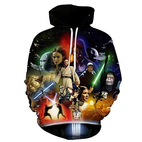 Kapuzenpullover,Star Wars Herren Hoodie,Rollkragenpullover,Cosplay Sweatshirt Für Herren Und Damen Hoody,S,Schwarz